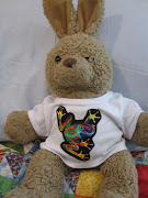 This is Mr. Funny Bunny, who came to us from the BuildABear Workshop many .