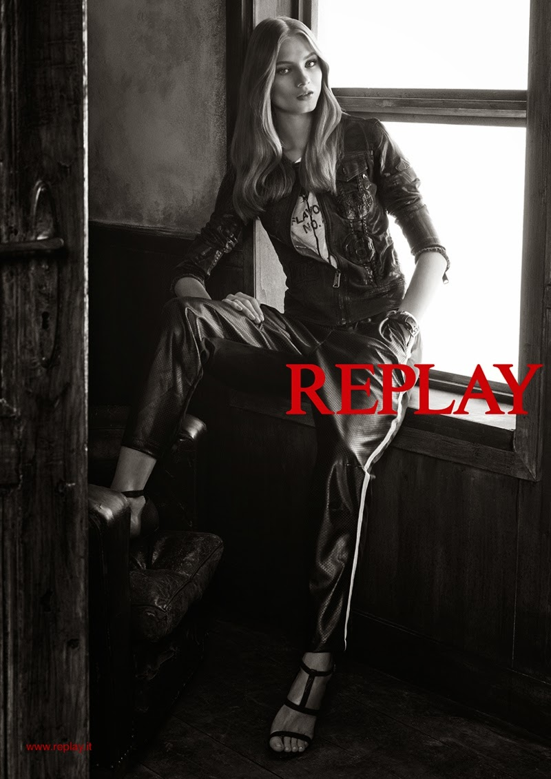 Anna Selezneva poses for Replay Denim's Spring/Summer 2015 Campaign