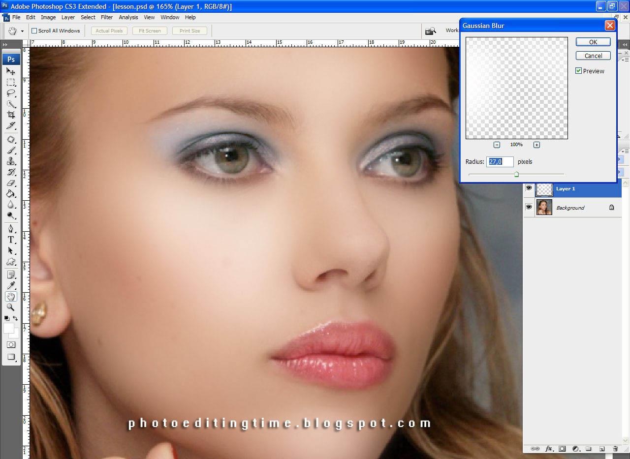 Как поправит макияж в фотошопе