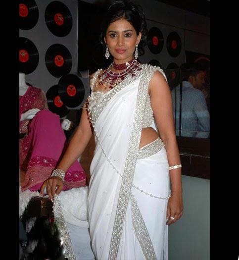 Indian Actress Sonali Kulkarni Saree