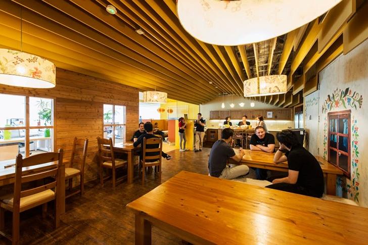 google office inside. Wooden Coffee Shop In Google Office Dublin Inside