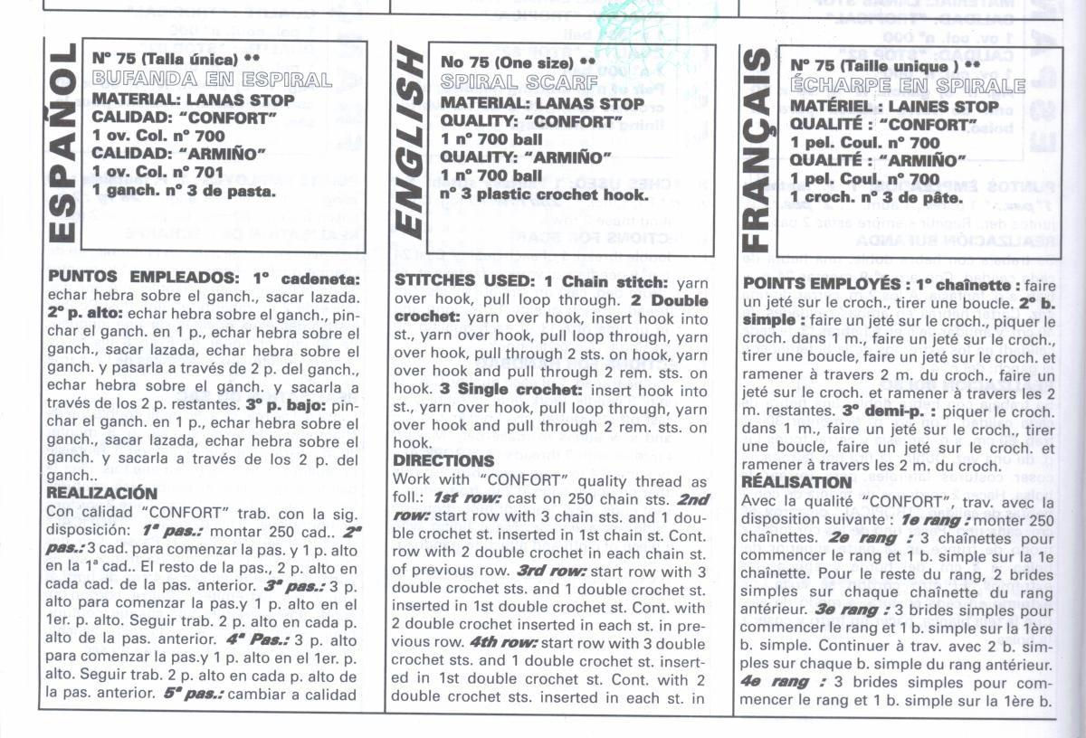 patrones asgaya: BUFANDA EN ESPIRAL A CROCHET