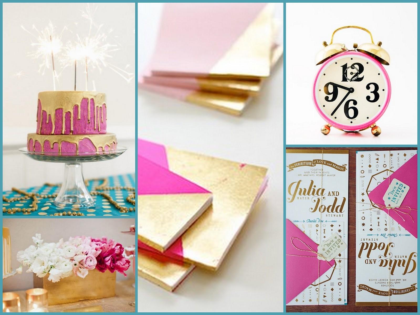 bird dog wedding: Board {Fuchsia, Gold, and Teal}