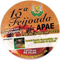 Rio Bonito do Iguaçu - APAE convida toda a comunidade para 15ª feijoada