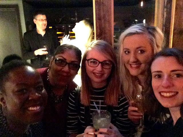 girls at bloggers below zero at ice bar london
