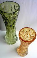 FLORERO WHITEFRIARS GLASS GRAN BRETAÑA AÑOS 70
