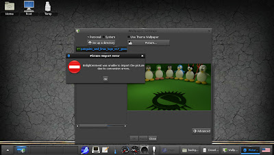 openSUSE 12.2 Enlightenment E17 change background error