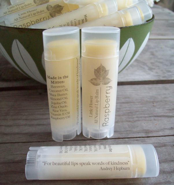 all natural raspberry lip balm michigan made beeswax lip balm raspberry lipbalm detroit ann arbor all natural body care beeswax lip balm shea butter lip balm natural chapstick the little flower soaps sweet pea floral design rustic farm house body care bathroom accent