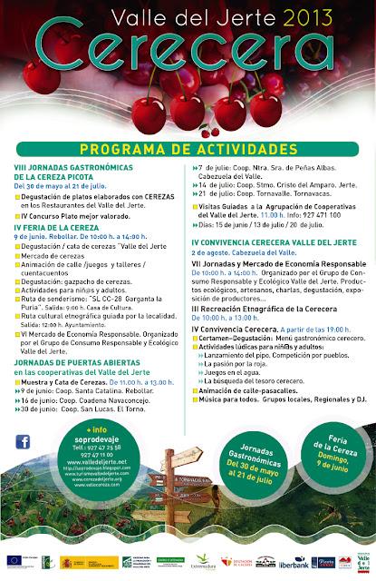 Programa Cerecera 2013 en el Valle del Jerte