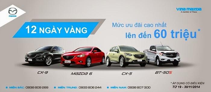 Ưu đãi tháng 12 mua xe Mazda| Mazda khuyến mại| Mazda ưu đãi