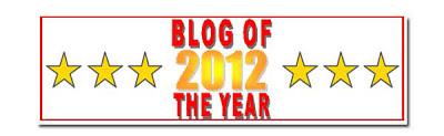 Nominalizare pentru Blogul anului 2012 de la prietena draga Sidy