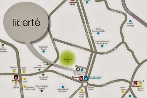 Liberte @ Sarkies Location Map