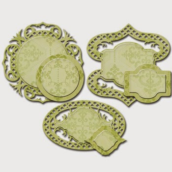 Spellbinders Shapeabilities Victorian Garden Fancy Framed Tags SBS4-530