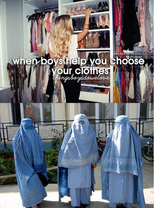 Frauen die Garderobe vorschreiben