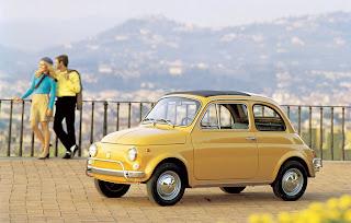 Fiat 500L gialla del 1968