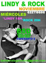 LINDY HOP Y ROCK & ROLL EN NOVIEMBRE,  LOS MIÉRCOLES EN BSD BAILAS SOCIAL DANCE MÁLAGA CENTRO .