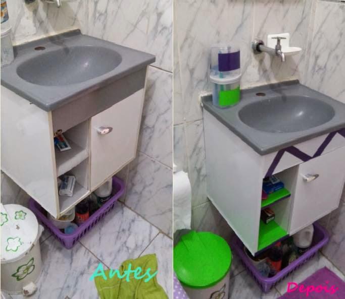 Decoração de Banheiro Simples e Barato! -> Decoracao Banheiro Barata
