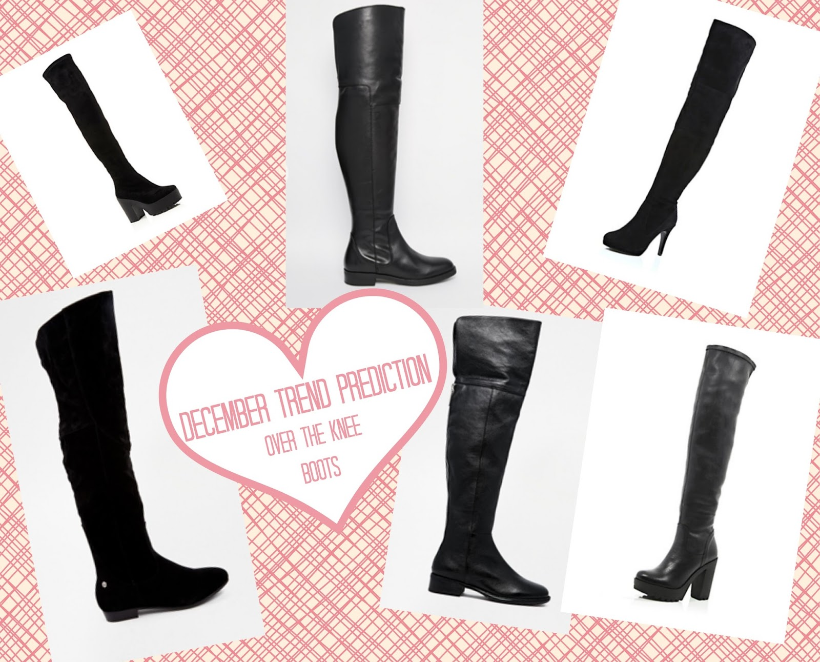 December Trend Prediction Over the Knee Boots