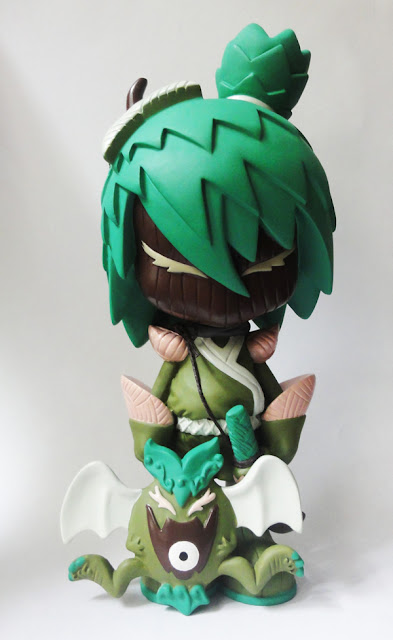Ni Ni Bot Moss Ambush Resin Figure by Erick Scarecrow