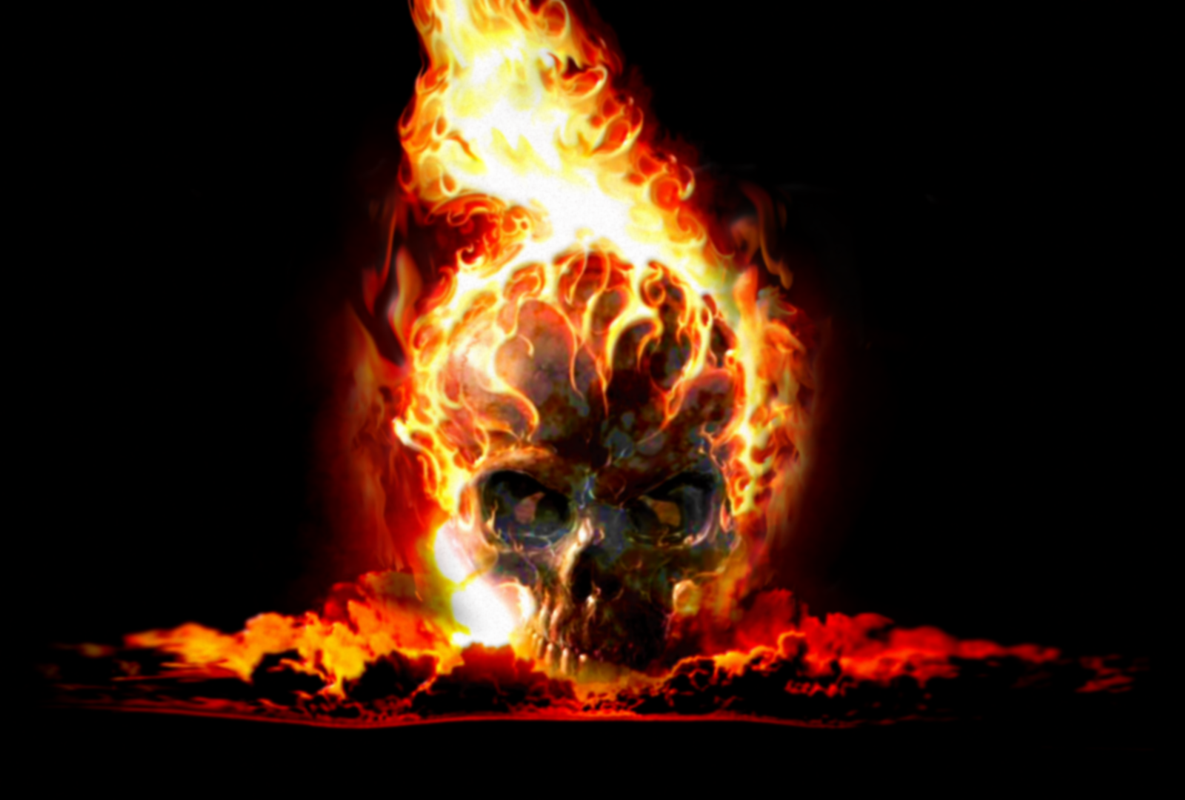 Macintosh OS Info  Wallpaper Skulls With Flames