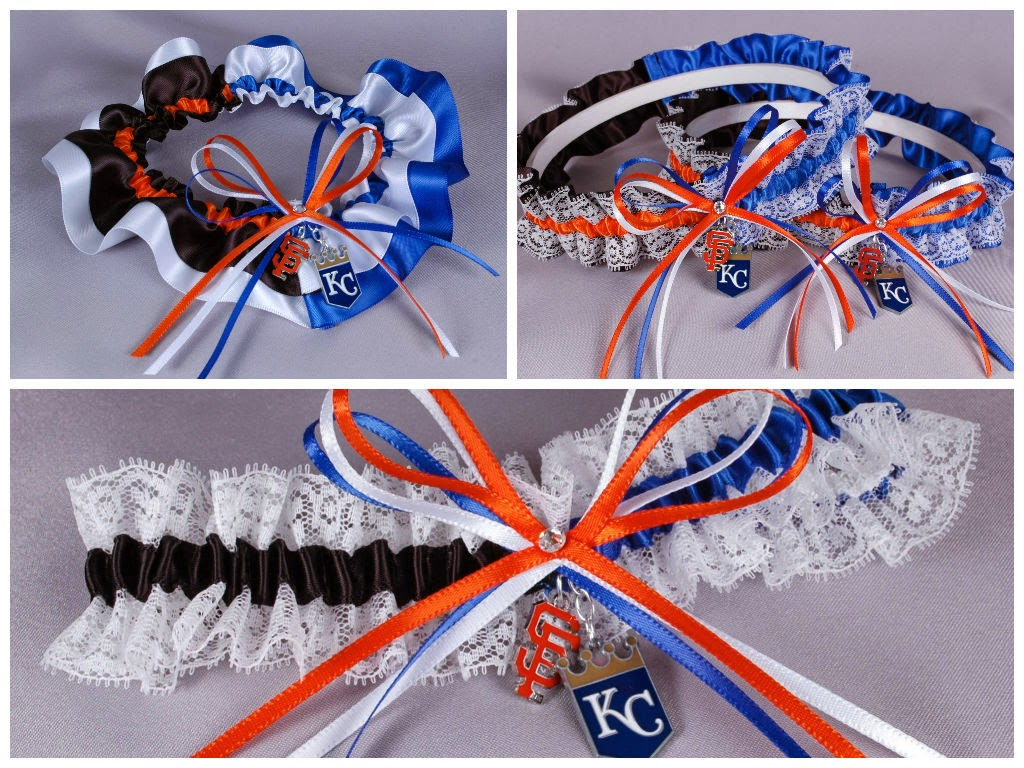 2014 World Series San Francisco Giants vs Kansas City Royals Rival Garters