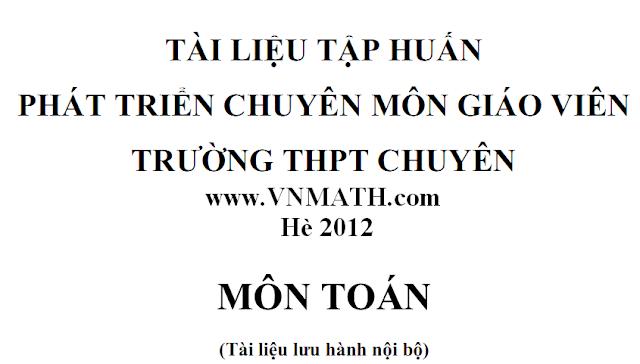 chuyen de boi duong hoc sinh gioi 2012
