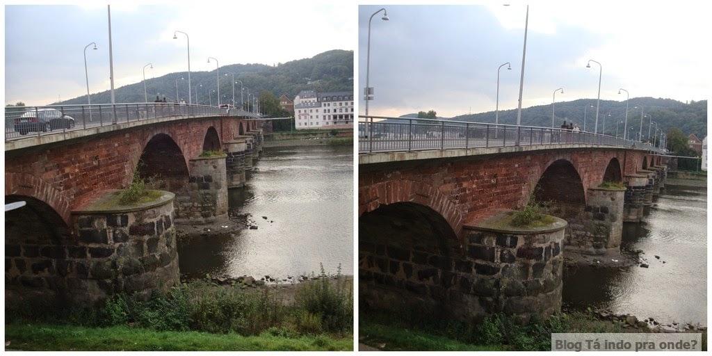 Ponte Romana - Römer Brücke em Trier, Alemanha