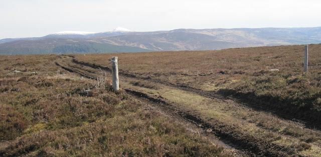Mount Keen, path across Creagan Riabhach, Deeside