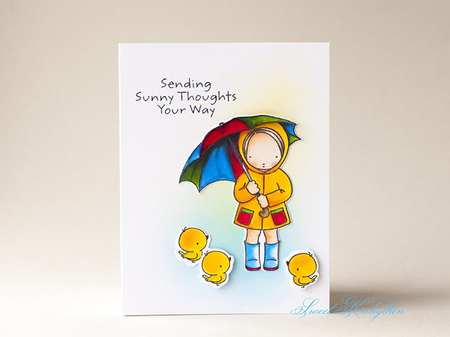 Greeting Card with Sunny Thoughts from My Favorite Things by Sweet Kobylkin