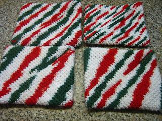 Free Diagonal Striped Potholders Knitting Pattern