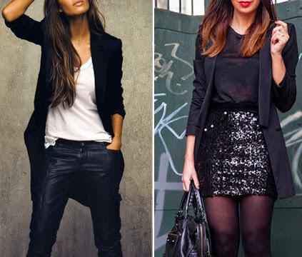 Dá pra ir para a balada com blazer preto. Isso mesmo! E usar na primavera, no verão, no outono ou mesmo no inverno
