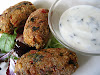Sweet Potato and Apricot Croquettes with Mint Yogurt Sauce