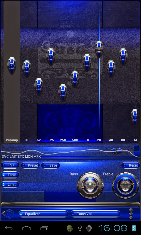 Smartphone games and applications - Android: North Empire HD Poweramp skin v1.40