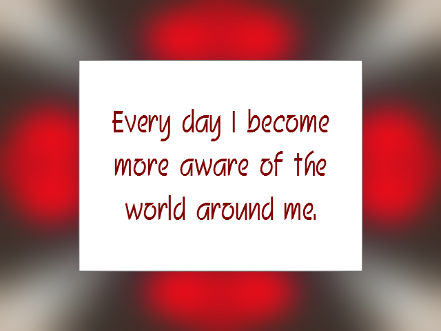 AWARENESS affirmation