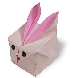 Origami Páscoa Caixa Coelho Arte De Fazer Decoração E Artesanato