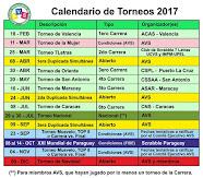 Calendario de Torneos 2017