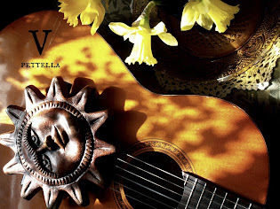 Daffodils and Sunlit guitar