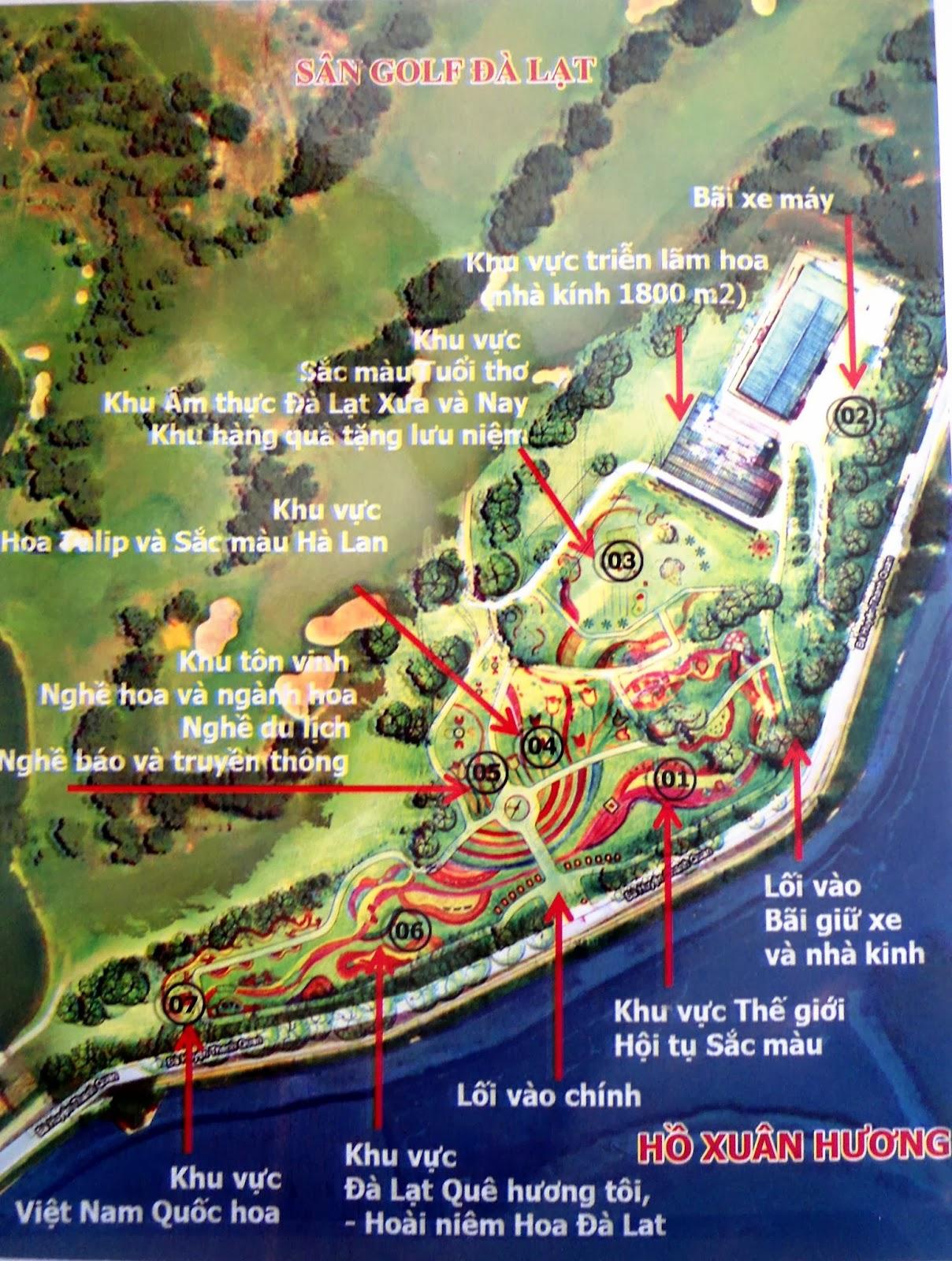 Chương trình hưởng ứng lễ hội hoa Đà Lạt   Bản đồ hướng dẫn