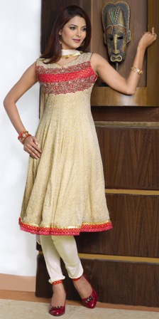 Peach-Color-Anarkali-Frock