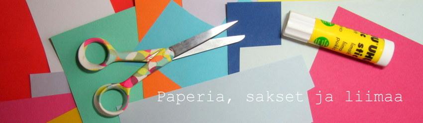 Paperia, sakset ja liimaa