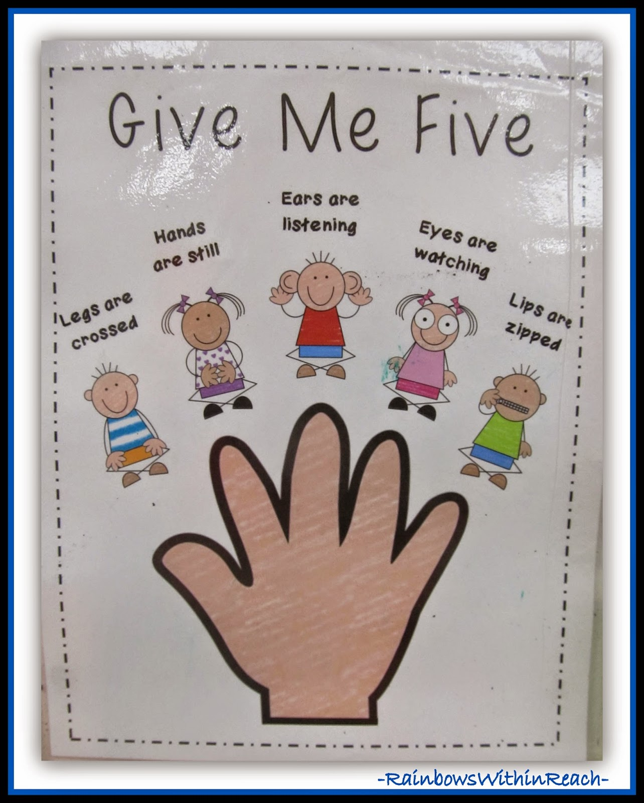 Using 'Hand' for Classroom Behavior Management at RainbowsWithinReach