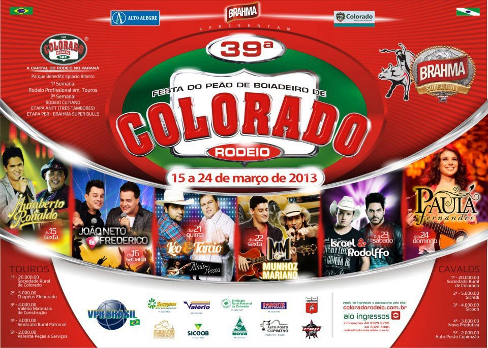 549339 550315784993402 251375624 n Colorado Rodeio 2013