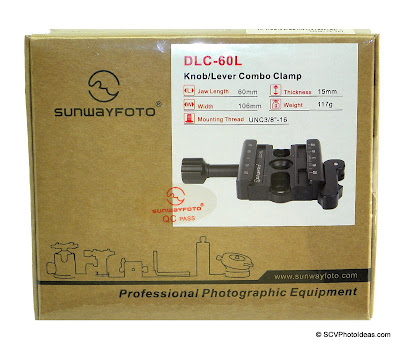 Sunwayfoto DLC-60L Duo QR Clamp box - shrink wrapped