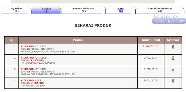 halal Info Air Kickapoo Datang Dari Syarikat Arak