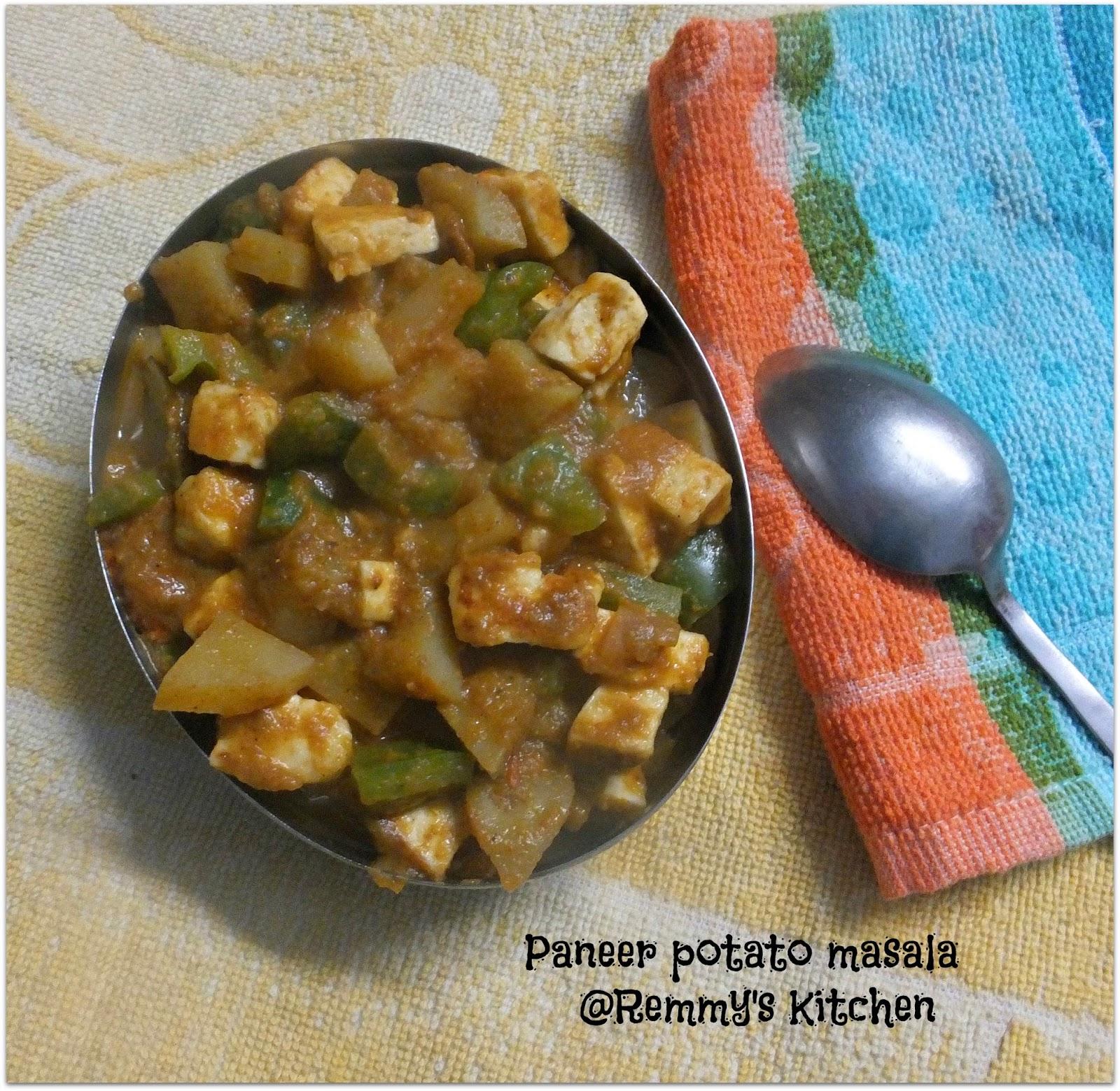 Paneer potato masala