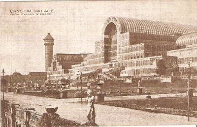 Crystal Palace - card posted 1920