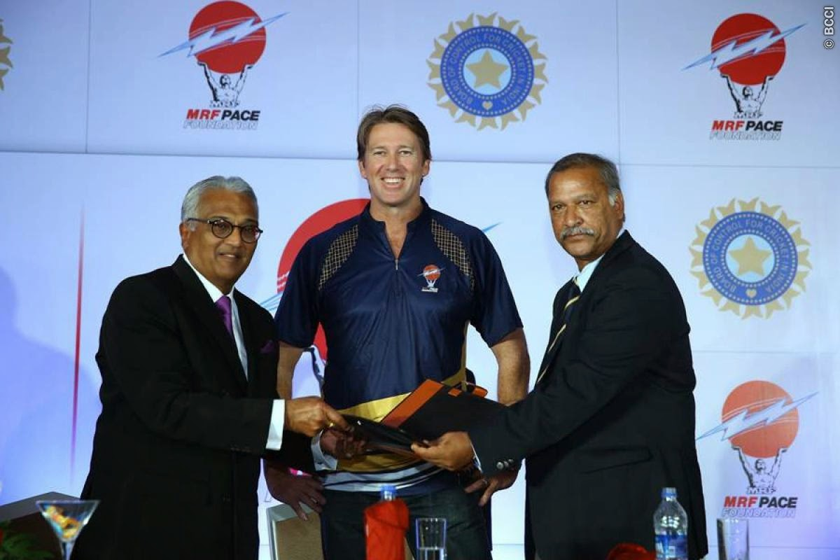 BCCI-Signs-MRF-PACE-FOUNDATION-Glenn-McGrath