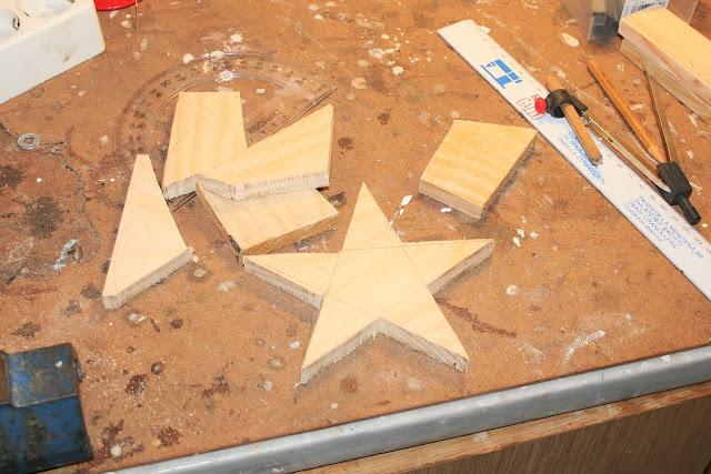 Arbol de madera paso a paso estrella