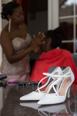 mariage aux Abymes en Guadeloupe, les chaussures de la mariée