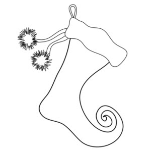 christmas stocking coloring pages free stocking pictures - Stocking Coloring Pages